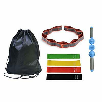 Resistance Bands and Muscle Roller Set, 4pcs Resistance Bands for Leg and (7)