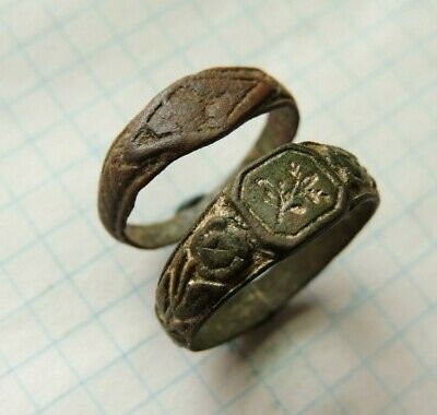 Ancient Bronze Rings  Middle Ages