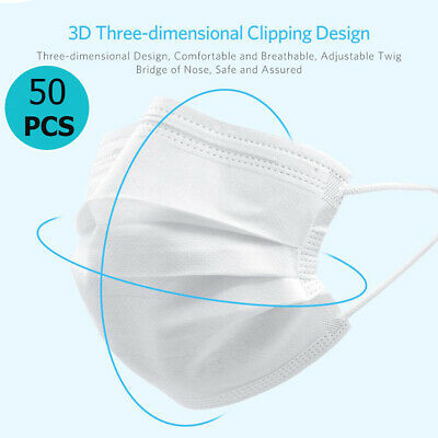 50Pcs 3-Ply Face Protection Protect Dustproof Anti-dust