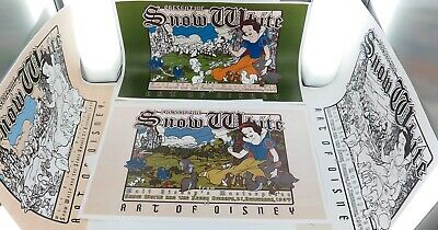 .SCARCE 2007 JOB LOT THE ART of DISNEY / SNOW WHITE 70TH ANNIVERSARY POSTERS. #1