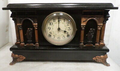 1904 Sessions American Column Mantle-Clock 8 Day Hour/Half Hour Strike