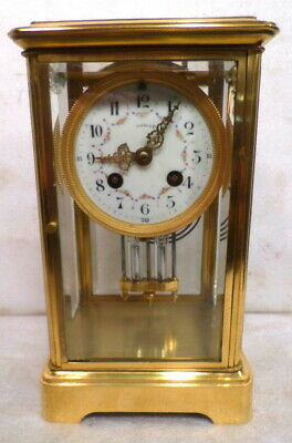 1890 French Marti Crystal Regulator--Striking, Beveled Glass & Mercury Pendulum