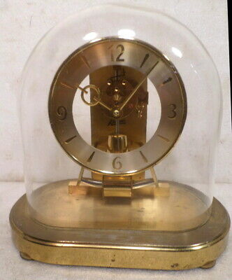 1950's Oval Electro Magnetic Battery Table Clock With Glass Dome--6 Jewels