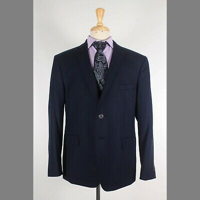 Joseph Abboud 46S Navy Solid Wool Two Button Sport Coat