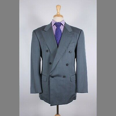 Gieves & Hawkes 42R Green Check Wool Double Breasted Sport Coat