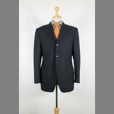 Canali 40S Gray Solid Wool Three Button Mens Sport Coat Blazer Jacket