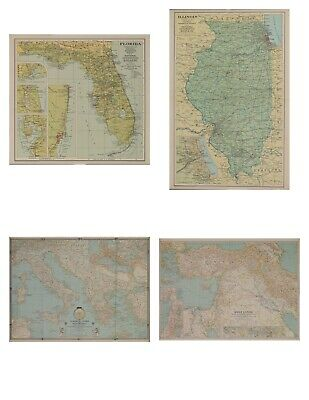 Large Lot of 34 National Geographic Maps 1920's to 1950's