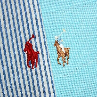 LOT OF TWO (2): Medium Polo Ralph Lauren Short Sleeve Button-Front Shirts PRL