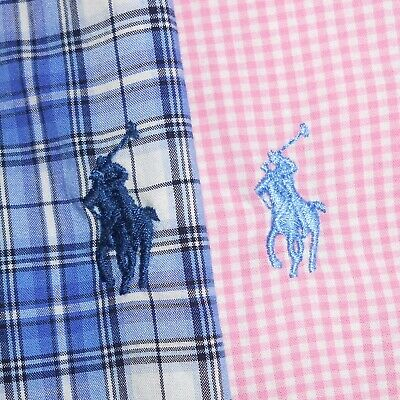 LOT OF TWO (2): Medium Polo Ralph Lauren CUSTOM FIT Button-Front Shirts PRL