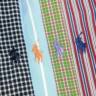 LOT OF FOUR (4): Large Polo Ralph Lauren Button-Front Long Sleeve Shirts PRL