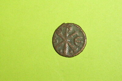 Justin I 518 AD ancient BYZANTINE COIN christogram chi rho Jesus Christ Good old