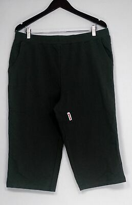 Denim & Co. Pants Sz L Active French Terry Pedal Pushers Green A254817