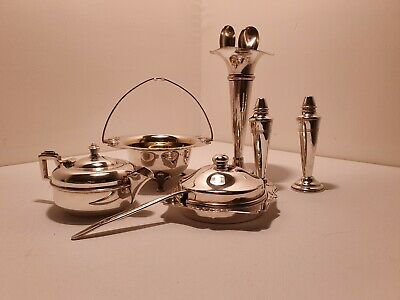 Mix of small Vintage silver plated English tea set( 9 items )