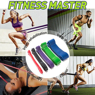 Exercise Fitness Pull Up Resistance Bands Loop -Mobility Stretch Powerlifting