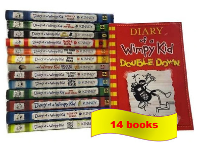 Jeff Kinney: Diary of A Wimpy Kid comic book Series 14 books [P~D~F Collection]