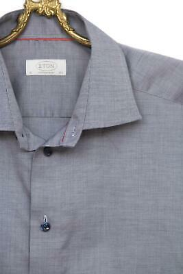Great Men's ETON Blue Conteporary Fit Shirt Size 16.5 / 42