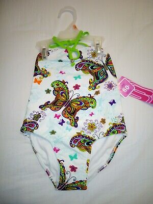 Girls Sketchers Swimsuit Butterfly Print Age 5