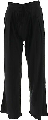 AnyBody Loungewear Cozy Knit Relaxed Pants Black L NEW A303105