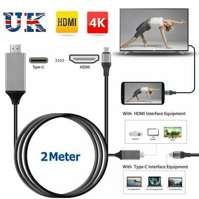 USB-C Type C to 4K HDMI HDTV Adapter Cable For Samsung Galaxy S8 S9 & Macbook UK