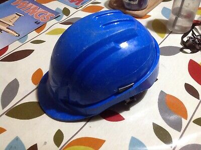 Blue Adult Builders Hat (52-63) Cm In Good Sound Condition