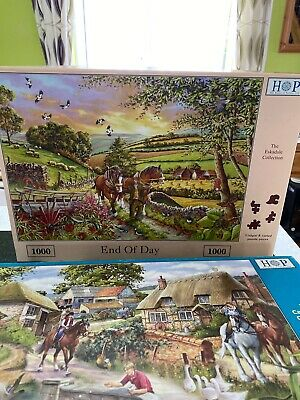 2 x HOP 1000 PIECE Puzzles End Of Day And Bridle Path