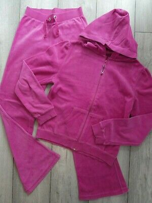 Girls Pink Velour Tracksuit/Lounge Suit Age 12/13 Years