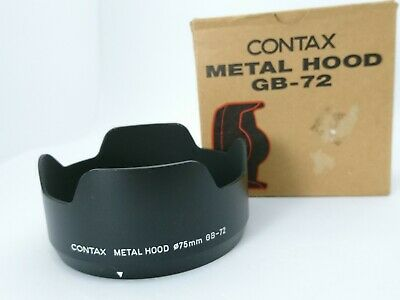 [Mint]  Contax GB-72 Metal Lens Hood for carl Zeiss planar 80mm F/2 From Japan