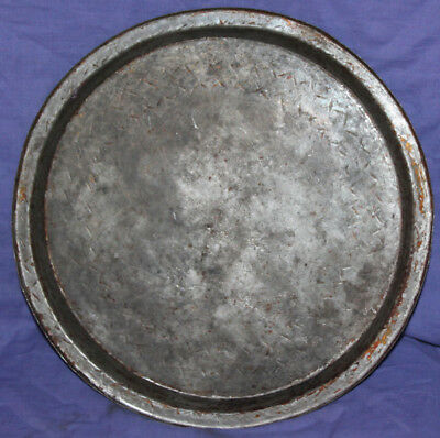 Antique hand made tinned copper tray platter