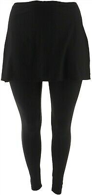 Legacy Brushed Jersey Skirted Legging Black 2X NEW A342925