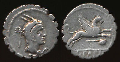 79Bc L. Papius Denarius (With Leaping Gryphon) Nice !! Must See  > No Reserve
