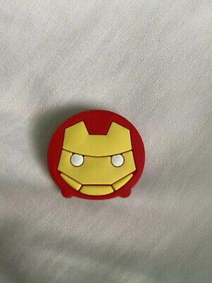 Crocs Jitbit Shoe Charm Iron Man Character Red And Yellow Marvel boys girls kids