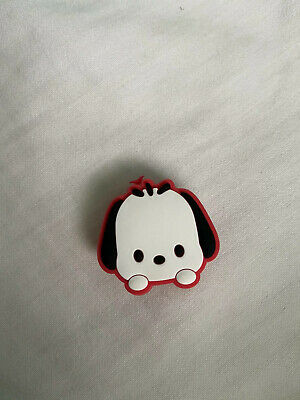Crocs Jitbit Shoe Charm White Black And Red Character Dog