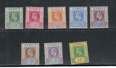 GAMBIA # 28-33,35-36VF-MLH KEV11 ISSUES TO 1s6d CAT VALUE $120+