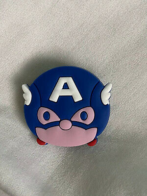 Crocs Jitbit Shoe Charm Captain America Character Blue And Red