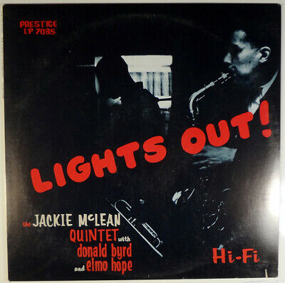 JACKIE McLEAN QUINTET-LIGHTS OUT-1990 PRESTIGE OJC STEREO LP