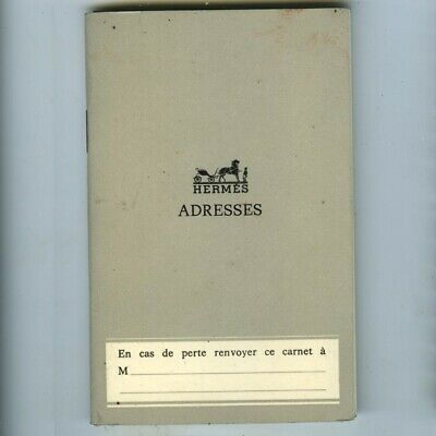 VINTAGE 1968 Hermes Pocket/Purse Address Book Etc,Unused,Made in France,Draeger