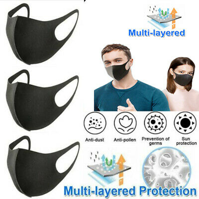 3-20xReusable Face Cover Anti Dust Mouth Protection Cover Mutli Layered Lot Kits