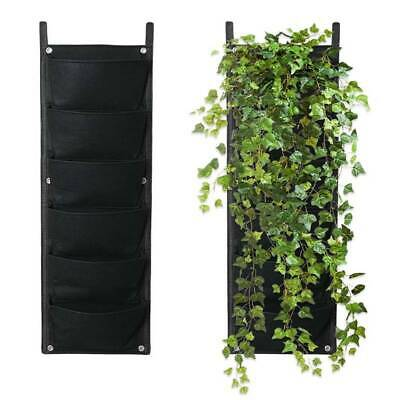 7/6 Pocket Felt Vertical Garden Planter Wall Hanging Bag Planting Herbs