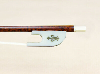 New 1/4 Size Snakewood Stick Violin Bow Baroque Style Beautiful Gift For Learner