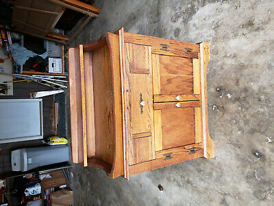 Antique Vintage Solid Wood Wash Stand 33-1/2 long x 36 high x 17-1/2 deep