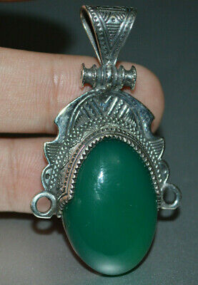 Exeptional Extremely Rare Ancient highly detailed Roman Pendant rare green stone