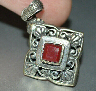 Exeptional Extremely Rare Ancient highly detailed Roman Pendant unique stone