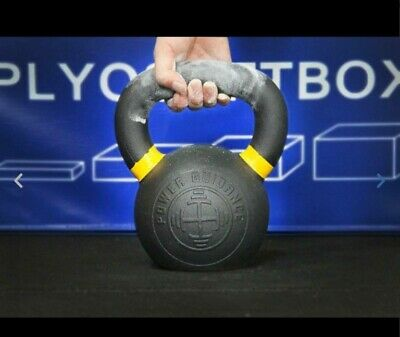 POWER GUIDANCE Cast Iron Kettlebell Weights, Powder Coated, LB and 4 KG Markings