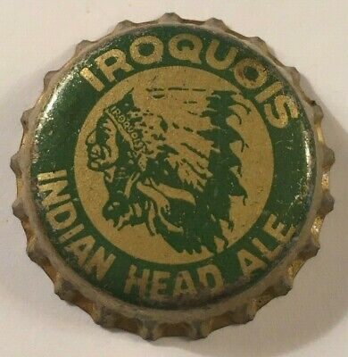 Iroquois Indian Head Ale Beer Bottle Cap; 1933-51; Buffalo, New York; Used Cork