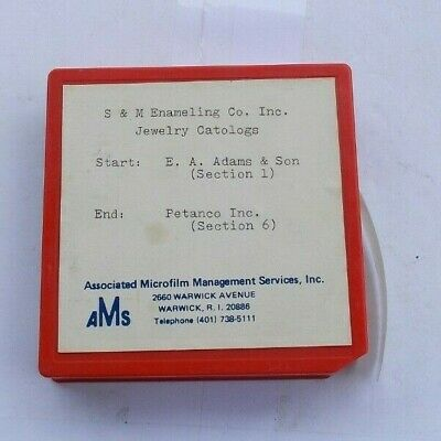 RARE Vintage 3M Microfilm Video Movie Cartridge System Jewelry Catalogs S&M LOOK