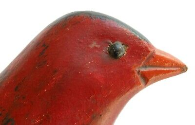 AAFA Early 1900s Antique Folk Art Hand Carved Wood Bird