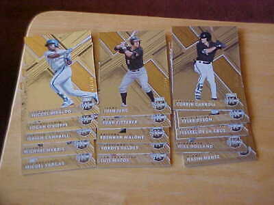 (15X) 2019 Panini Elite Extra Edition Rookie Lot Carroll Jung Malone Valdes