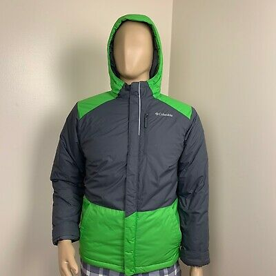 Womens Zip Up Grey-Green Columbia Coat With Pockets Size Large