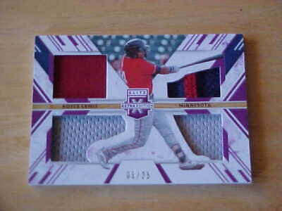 Royce Lewis 2019 Panini Elite Extra 4X Game Used Relics 2 PATCH 05/25  Twins
