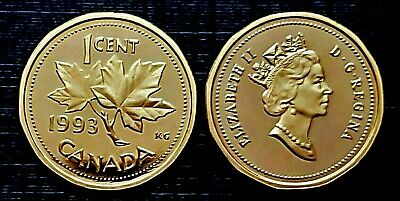 Canada 1993 Proof Gem UNC Small Cent Penny!!